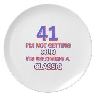 41 verjaardagsdesign party borden