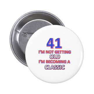 41 verjaardagsdesign ronde button 5,7 cm