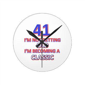 41 verjaardagsdesign ronde klok medium