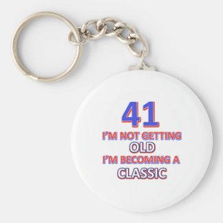 41 verjaardagsdesign sleutelhanger