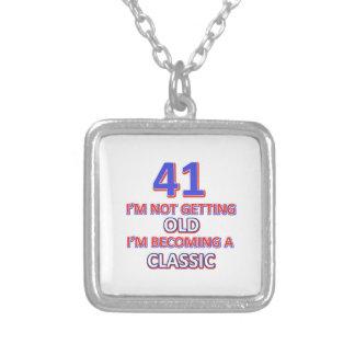 41 verjaardagsdesign zilver vergulden ketting
