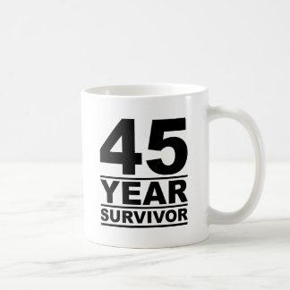 45 jaaroverlevende koffiemok