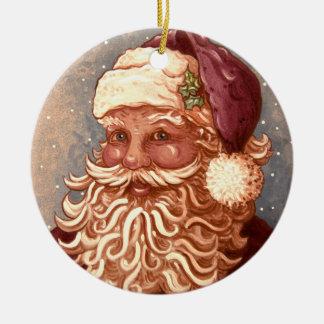 4884 Kerstmis van de Kerstman Rond Keramisch Ornament