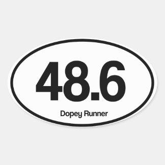 48.6 suffe Agent Ovale Sticker