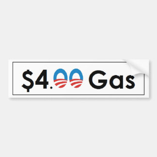$4.00 Gas Obama Bumpersticker
