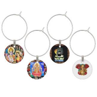 4 charmes Laxmi Narain Shiva Linga Ganapat Ganesha Wijnglashanger