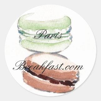 4 de sticker van Parijs Macarons