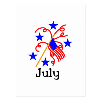 4 de Vlag van juli Briefkaart
