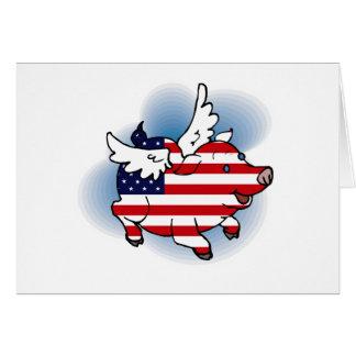 4 juli de Patriottische Vliegende Kaart van de Dag