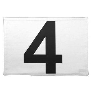 4 - nummer vier placemat