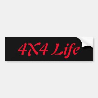 4x4 het leven bumpersticker