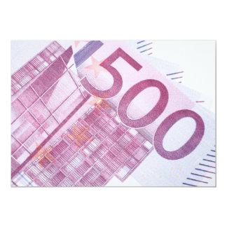 500 Euro 12,7x17,8 Uitnodiging Kaart