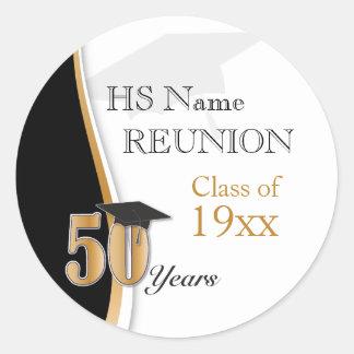 50 de Bijeenkomst van de Klasse van het jaar in Ronde Sticker