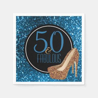 50 & de Fabelachtige   Elegante Hoge Hielen van de Papieren Servetten