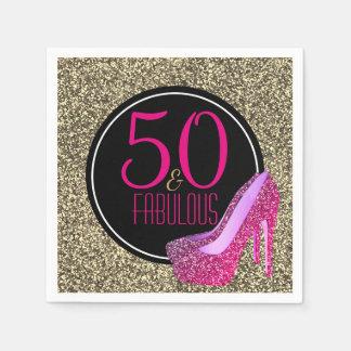 50 & de Fabelachtige   Elegante Hoge Hielen van de Wegwerp Servetten