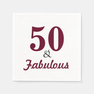 50 & de Fabelachtige Servetten van het Document Papieren Servetten