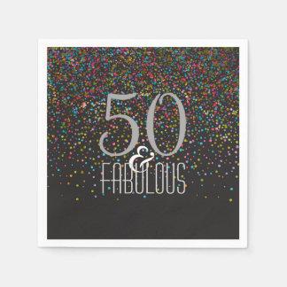 50 & de Fabelachtige Verjaardag van het Stip van Wegwerp Servetten