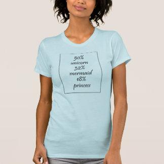 50% eenhoorn, 32% meermin, 18% prinsesT-shirt T Shirt