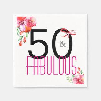 50 en de Fabelachtige 50ste Servetten van de Wegwerp Servet