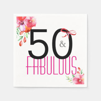 50 en de Fabelachtige Elegante 50ste Partij van de Wegwerp Servet