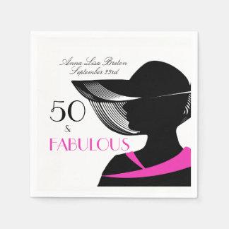 50 en de Fabelachtige Elegante 50ste Verjaardag Wegwerp Servet