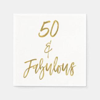 50 en de Fabelachtige Gouden Servetten van de Wegwerp Servetten