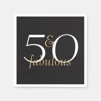 50 en de Fabelachtige Gouden Zwarte Witte Papieren Servetten