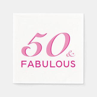 50 en de Fabelachtige Servetten van de Partij van Wegwerp Servetten