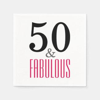 50 en de Fabelachtige Servetten van het Document Papieren Servetten