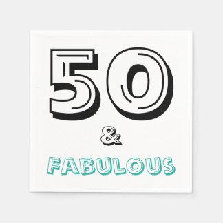 50 en de Fabelachtige Servetten van het Document Wegwerp Servet