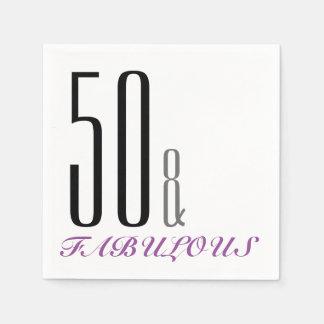 50 en de Fabelachtige Servetten van het Document Wegwerp Servetten