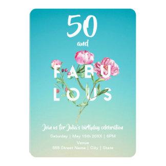 50 en de FABELACHTIGE | Uitnodiging van de