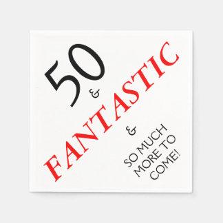 50 en de Fantastische Servetten van het Document Papieren Servetten