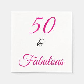 50 en Fabelachtig Wegwerp Servet