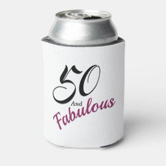 50 en Fabelachtige Koelbox. Wit, zwart en roze Blikjeskoeler
