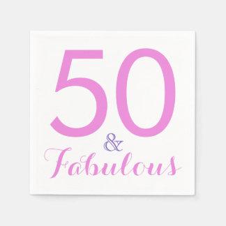 50 en het Fabelachtige Trendy Elegante Roze van de Papieren Servet