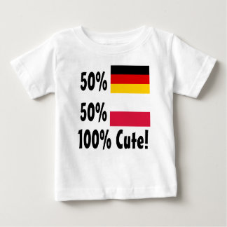 50% het Duits 50% Leuk Pools 100% Baby T Shirts