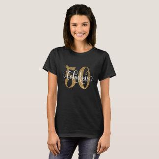 50 & het Fabelachtige Goud schitteren Typografie T Shirt