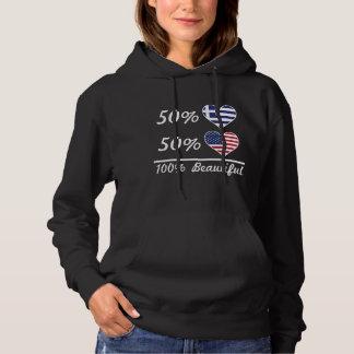 50% het Grieks 50% Mooie Amerikaan 100% Hoodie