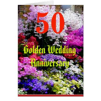50 het Jubileum van de gouden bruiloft met een Briefkaarten 0