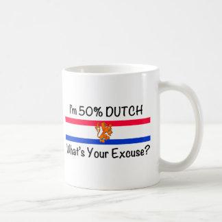 50% het Nederlands Basic Witte Mok