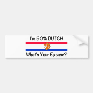 50% het Nederlands Bumpersticker
