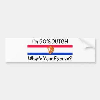 50% het Nederlands Bumpersticker