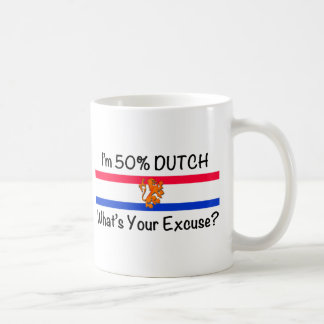 50% het Nederlands Koffie Beker