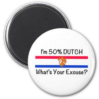 50% het Nederlands Ronde Magneet 5,7 Cm