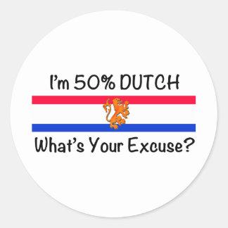 50% het Nederlands Ronde Stickers