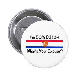 50% het Nederlands Speld Buttons