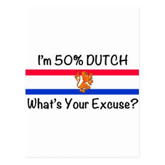 50% het Nederlands Wenskaart