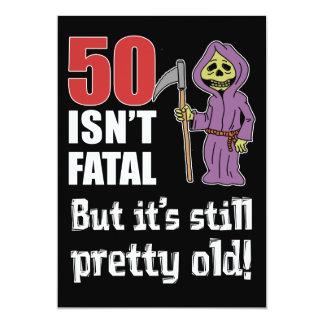 50 is niet Fataal maar de Oude Grappige 12,7x17,8 Uitnodiging Kaart