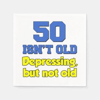 50 is niet Oud, Indrukkend maar niet Oud Papieren Servetten